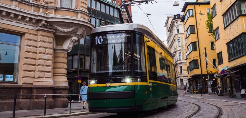 Tram in Helsinki